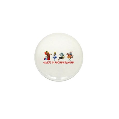 ALICE IN WONDERLAND & FRIENDS Mini Button (100 pac