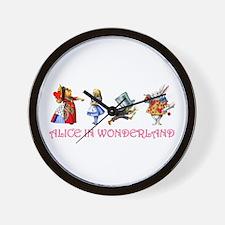ALICE IN WONDERLAND & FRIENDS Wall Clock