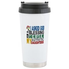 Blessing 5 Autistic Daughters Travel Mug