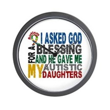 Blessing 5 Autistic Daughters Wall Clock