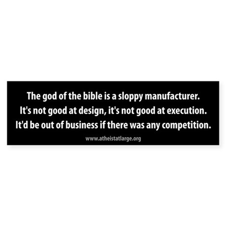 God of the Bible bumper sticker