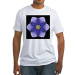 Blue Pansy I Fitted T-Shirt