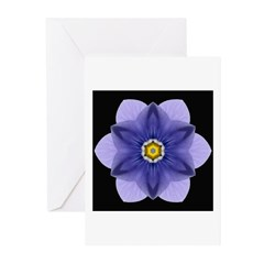 Blue Pansy I Greeting Cards (Pk of 10)