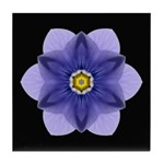 Blue Pansy I Tile Coaster