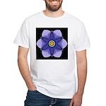 Blue Pansy I White T-Shirt