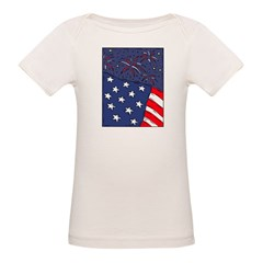 American Flag and Fireworks Tee