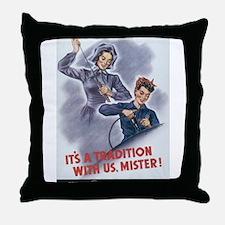 Women WII Throw Pillow