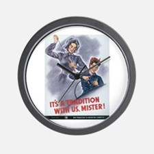 Women WII Wall Clock