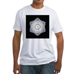 White Rose I Fitted T-Shirt