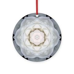 White Rose I Ornament (Round)
