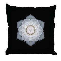 White Rose I Throw Pillow