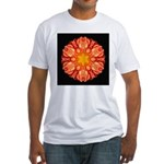 Orange Dahlia II Fitted T-Shirt