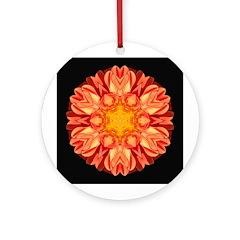 Orange Dahlia II Ornament (Round)