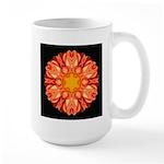 Orange Dahlia II Large Mug