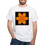 Orange Daylily I White T-Shirt