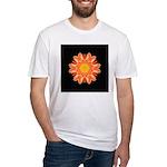 Orange Dahlia I Fitted T-Shirt