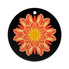 Orange Dahlia I Ornament (Round)