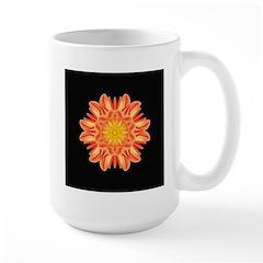 Orange Dahlia I Large Mug