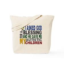 Blessing 5 Autistic Children Tote Bag