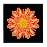 Orange Dahlia I Tile Coaster
