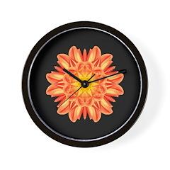 Orange Dahlia I Wall Clock