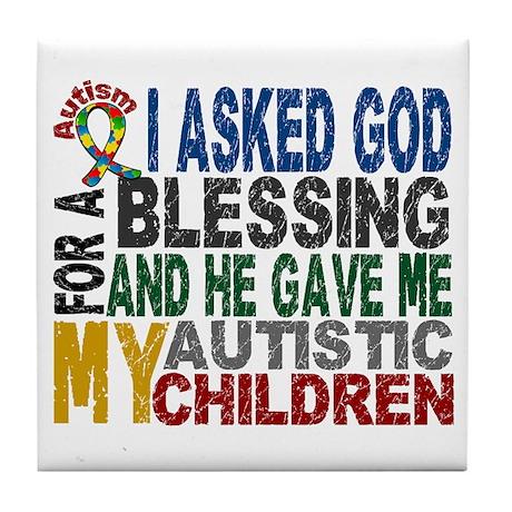 Blessing 5 Autistic Children Tile Coaster