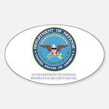 DOD PSD Oval Sticker (10 pk)