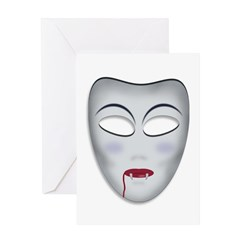 Vampiric Masque Greeting Card