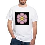 Lavender Pink Peony I White T-Shirt