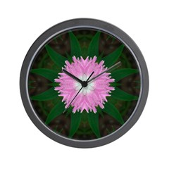 Dianthus I Wall Clock