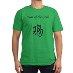 Year of the Cock Men's Fitted T-Shirt (dark)