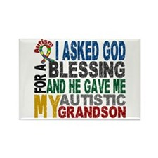 Blessing 5 Autistic Grandson Rectangle Magnet
