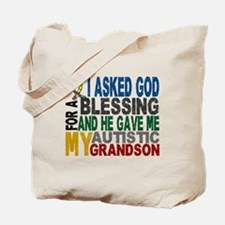 Blessing 5 Autistic Grandson Tote Bag