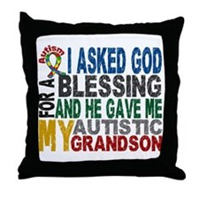 Blessing 5 Autistic Grandson Throw Pillow