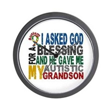 Blessing 5 Autistic Grandson Wall Clock
