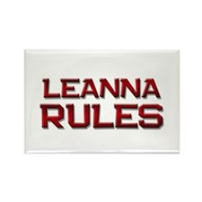 leanna rules Rectangle Magnet