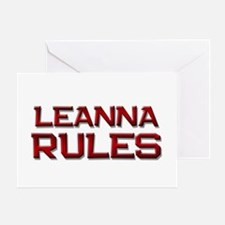 leanna rules Greeting Card