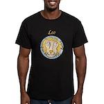 Leo Astrology 4 Men's Fitted T-Shirt (dark)
