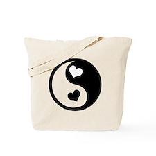 Heart Yin Yang Tote Bag
