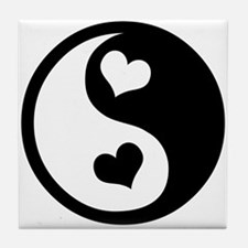 Heart Yin Yang Tile Coaster