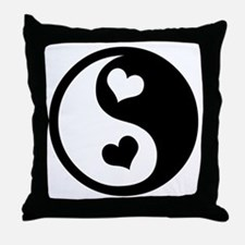 Heart Yin Yang Throw Pillow