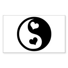 Heart Yin Yang Rectangle Decal