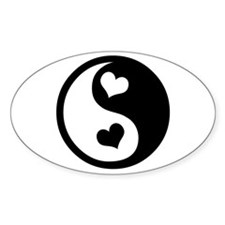 Heart Yin Yang Oval Decal