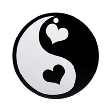 Heart Yin Yang Ornament (Round)