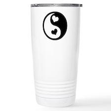 Heart Yin Yang Thermos Mug
