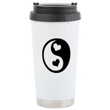 Heart Yin Yang Travel Mug
