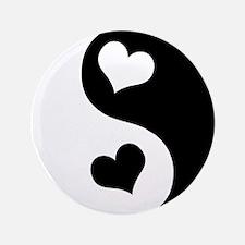 """Heart Yin Yang 3.5"""" Button (100 pack)"""