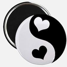 "Heart Yin Yang 2.25"" Magnet (100 pack)"