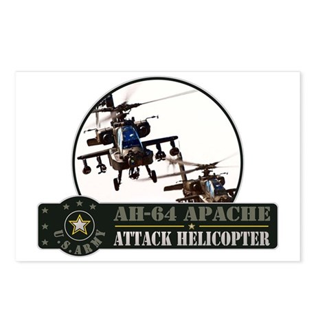 AH-64 Apache Helicopter Postcards (Package of 8)