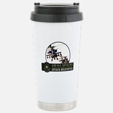 AH-64 Apache Helicopter Stainless Steel Travel Mug